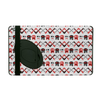 Comic Skull with crossed bones colorful pattern iPad Covers