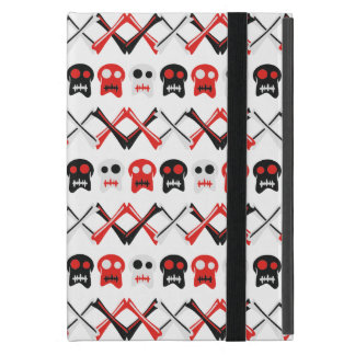 Comic Skull with crossed bones colorful pattern iPad Mini Case