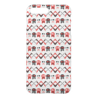 Comic Skull with crossed bones colorful pattern iPhone 8 Plus/7 Plus Case