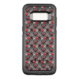 Comic Skull with crossed bones colorful pattern OtterBox Commuter Samsung Galaxy S8 Case