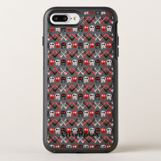 Comic Skull with crossed bones colorful pattern OtterBox Symmetry iPhone 8 Plus/7 Plus Case
