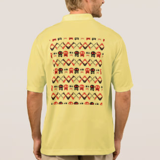 Comic Skull with crossed bones colorful pattern Polo Shirt
