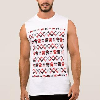 Comic Skull with crossed bones colorful pattern Sleeveless Shirt