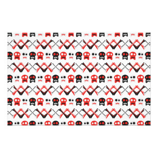Comic Skull with crossed bones colorful pattern Stationery