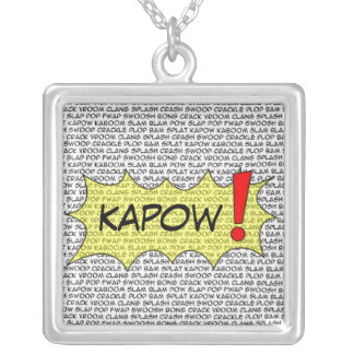 Comic Speak KAPOW! pendant