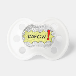 Comic Speak Superhero Pacefier Pacifier