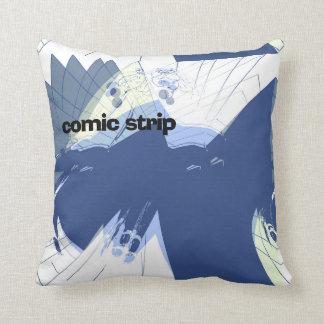 """""""Comic Strip"""" Printed Cotton Cushion"""