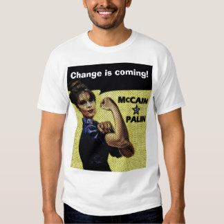 """Comic Style """"Change is coming!"""" Sarah Palin Tee"""