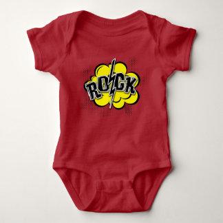Comic style rock illustration baby bodysuit