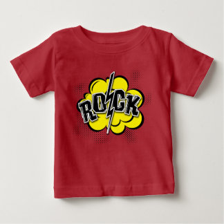 Comic style rock illustration baby T-Shirt