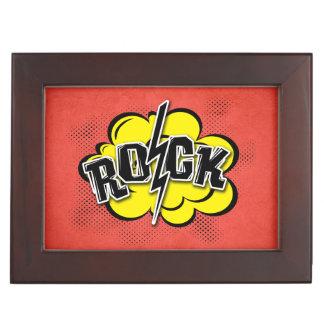 Comic style rock illustration keepsake box