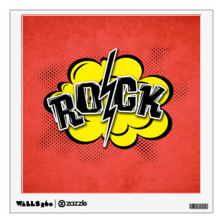 Comic style rock illustration wall sticker