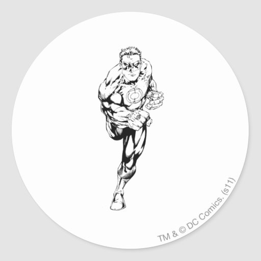 Comic Style - Running, Black and White Stickers