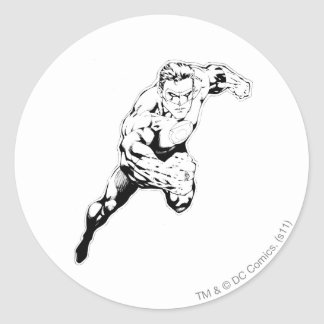 Comic Style - Swift Jump, Black and White Classic Round Sticker