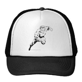 Comic Style - Swift Jump, Black and White Trucker Hat