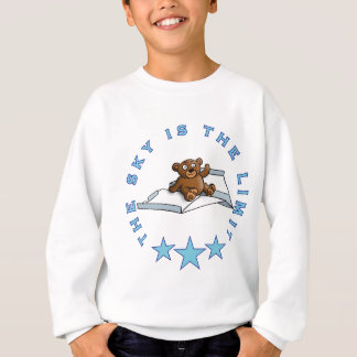 comic teddy bear on PAPER flat Sweatshirt