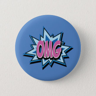 "Comic Text ""OMG"" Button Badge"