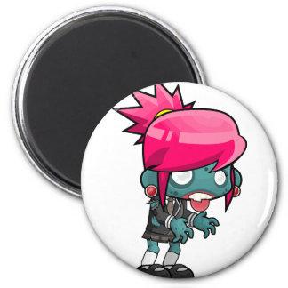 Comic Woman Zombie Magnet