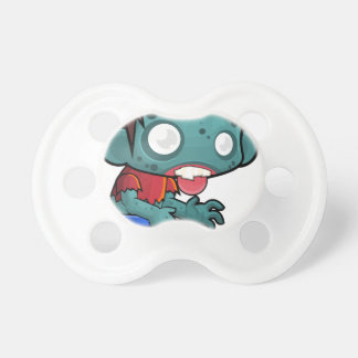 Comic Zombie Boy Baby Pacifier