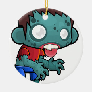 Comic Zombie Boy Ceramic Ornament