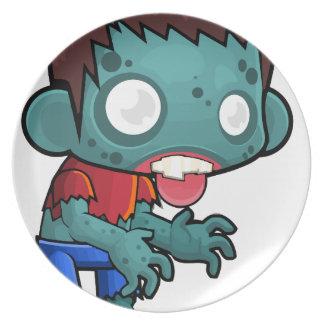Comic Zombie Boy Plate