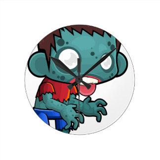 Comic Zombie Boy Wallclock