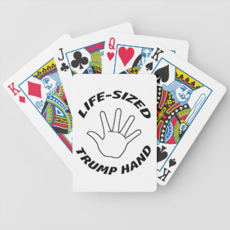 COMICAL - LIFE-SIZED TRUMP HAND BICYCLE PLAYING CARDS