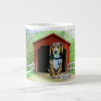 Comical Sandy Creek Covered Bridge Dog House Large Coffee Mug