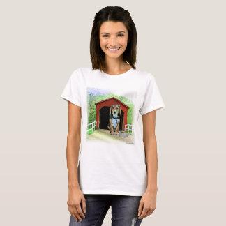 Comical Sandy Creek Covered Bridge Dog House T-Shirt