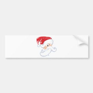 Comical Santa Claus Bumper Sticker