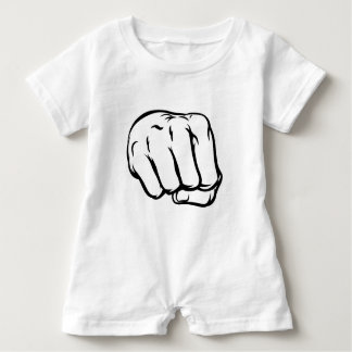 Comicbook Style Fist Baby Romper