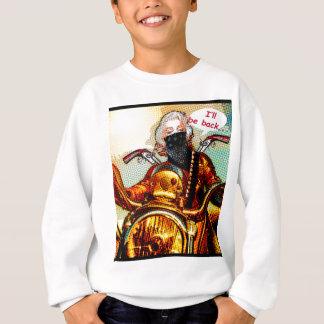comics biker big sweatshirt