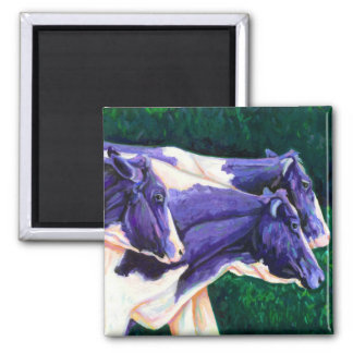 Coming Home - Holstein Cows Square Magnet