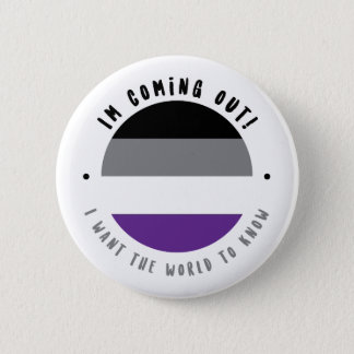 Coming Out - Asexual Button