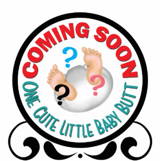 Coming Soon Cute Baby Diaper Butt Gender Reveal Standing Photo Sculpture