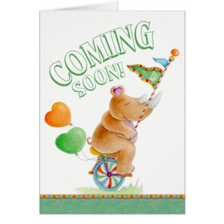 Coming soon whimsy baby pregnancy announcement