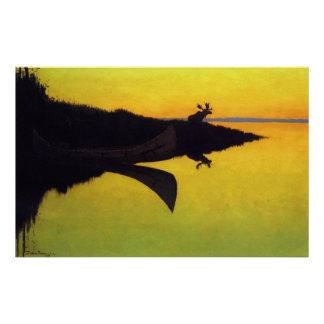 Coming to the Call ~ Frederic Remington Poster