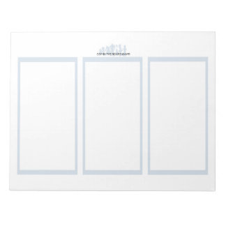 Comix the Board Game 3 Panel Plain Paper Notebook Notepad