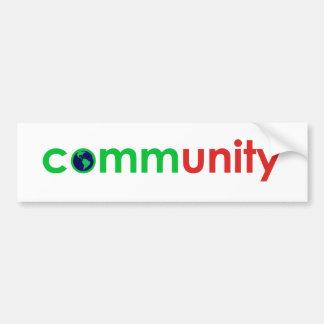 comm(unity) bumper sticker