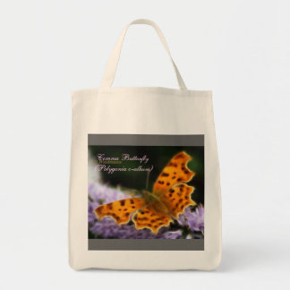 Comma Butterfly  (Polygonia c-album) Grocery Tote Bag