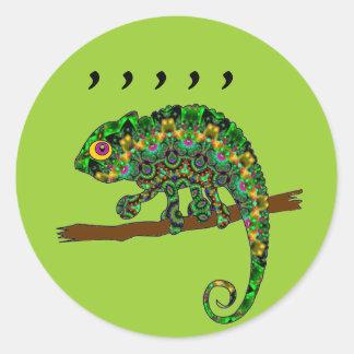Comma Chameleon stickers