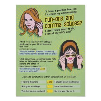 Comma Splices and Run-Ons Poster