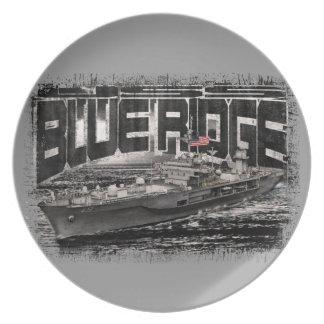 Command ship Blue Ridge Melamine Plate