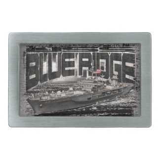 Command ship Blue Ridge Pewter Belt Buckle