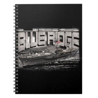 Command ship Blue Ridge Spiral Photo Notebook