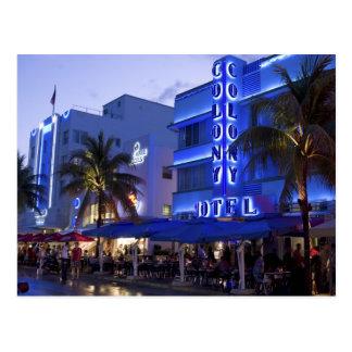 Commande d'océan, plage du sud, Miami Beach, 2 Carte Postale