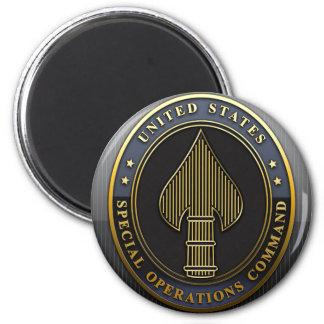 Commande d'opérations spéciales des USA Magnet Rond 8 Cm