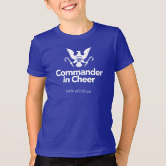 """Commander in Cheer"" kid's American Apparel tee"