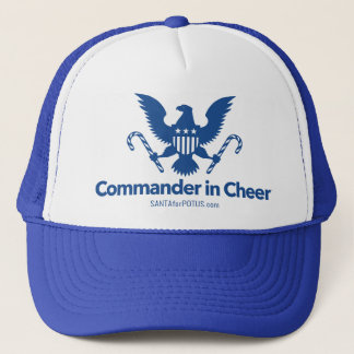 """Commander in Cheer"" trucker hat"