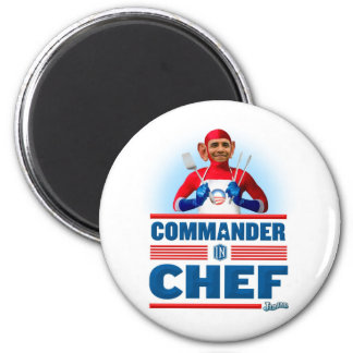 Commander in Chef 2 Inch Round Magnet